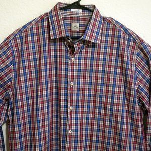 Peter Millar Long Sleeve Front Button Shirt XL